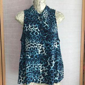 Size Small Equipment femme sleeveless silk blouse